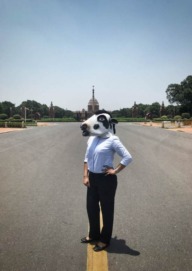 Kolkata photographer's series on women wearing cow masks protests India's misplaced priorities