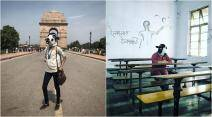 cow, cow vigilante, gau rakshak, women wearing cow hear, cow mask photo series, sujatro ghosh, beef ban, dadri lynching, cow mask protest, viral news, india news