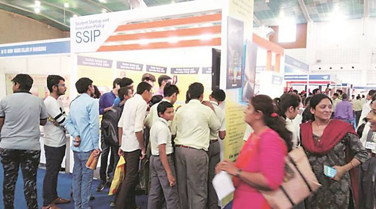 Gujarat education fair, Gujarat chief Minister Vijay Rupani, Gujarat CM Vijay Rupani, India News, Indian Express, Indian Express News