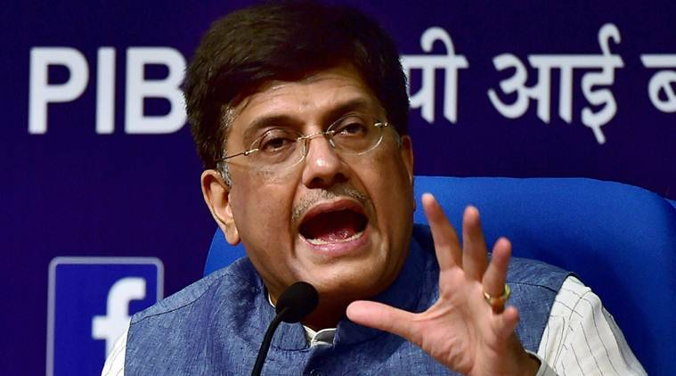 Image result for Railway Minister Piyush Goyal