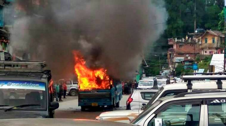 darjeeling protest, mamata banerjee, darjeeling hills protest over imposition of bengali language, tmc, gjm, gnlf, indian express news