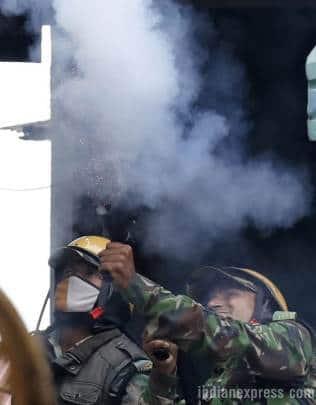 Darjeeling violence, Darjeeling agitation, Darjeeling Gorkhaland demand, GJM, Gorkhaland, GJM supporters versus police, Bimal Gurung