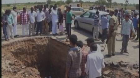 Man digs up road claiming to unearth 'Shiva Lingam', says Lord Shiva visited his dreams