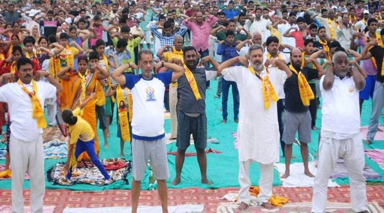 International Yoga Day, Yoga Day, Narendra Modi, Yoga Day Arvind Kejriwal, Yoga Baba Ramdev, Ahmedabad Yoga day,
