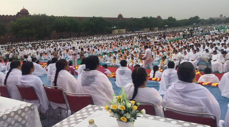 International Yoga Day, Yoga Day, Narendra Modi, Yoga Day, Yoga day Indian cities, Brahma Kumaris Yoga day, Redfort Yoga day, Indian express, India news, Latest news, World news