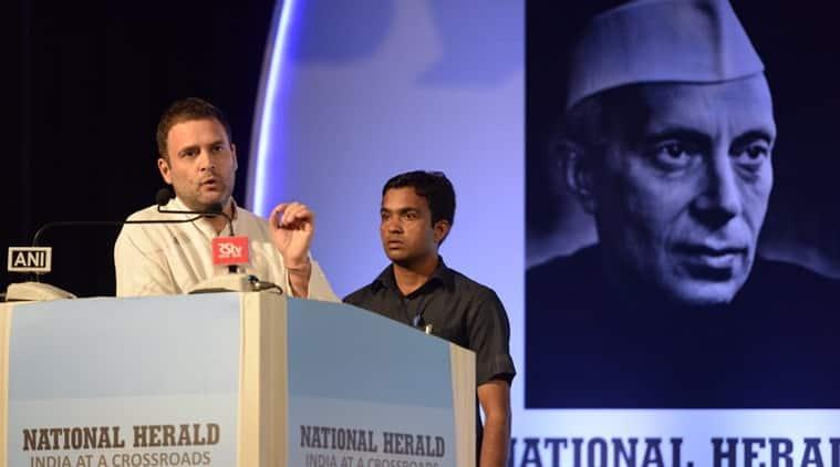 National Herald, National Herald launched, Rahul Gandhi National Herald, Hamid Ansari, Narendra modi, Indian express