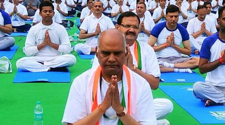 International Yoga Day, Yoga Day, Narendra Modi, Yoga Day Arvind Kejriwal, Yoga Baba Ramdev, Ahmedabad Yoga day, Ram Nath Kovind