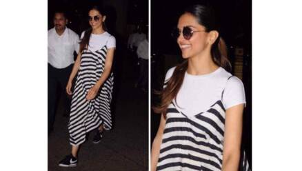 Deepika Padukone, Priyanka Chopra, Katrina Kaif, Sayani Gupta, Aditi Rao Hyadri, bollywood divas in stripes, bollywood fashion, bollywood style, indian express, indian express news