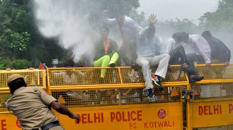 BJP Stages Protest Near Delhi Assembly Over 'graft' In AAP