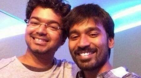 dhanush, vijay, vijay birthday, dhanush on vijay birthday, dhanush wishes vijay birth day pics,