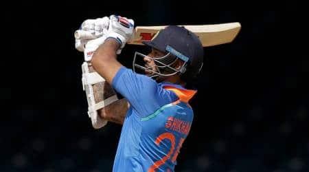 Shikhar Dhawan, dhawan, india vs west indies, ind vs wi, Shikhar Dhawan india vs west indies, cricket news, cricket, sports news, indian express