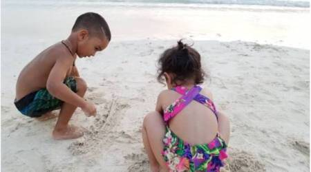MS Dhoni's wife Sakshi posts pic of daughter Ziva with Shikhar Dhawan's son Zoravar, see pic