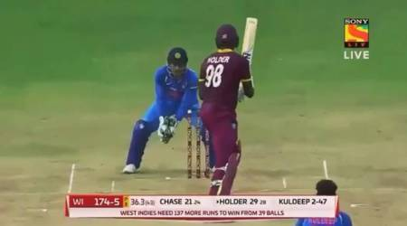 India vs West Indies: From electric fast behind the stumps, MS Dhoni goes really slow, watch video