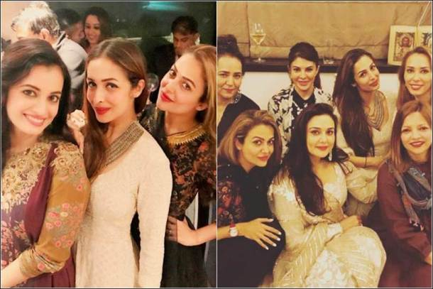 dia mirza, preity zinta salman khan eid, salman khan eid party inside photos