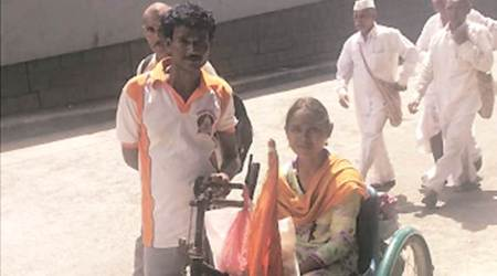 Differently-abled devotees beat odds to joinpalkhis