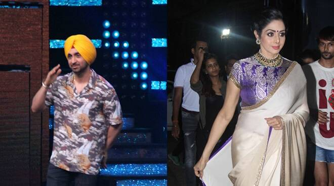 Bollywood star Sridevi Diljit Dosanjh snapped sets Nach Baliye 8