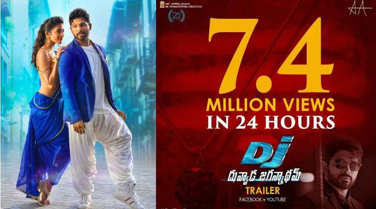 Allu Arjun's Duvvada Jagannadham trailer clocks 7.4 million views in 24 hours