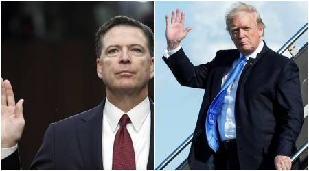Donald Trump accuses ex-FBI director James Comey of cowardice over 'leaks'