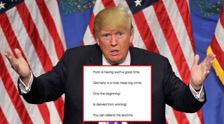 donald trump, donald trump poems, donald trump tweets, donald trump poet in chief, poet in chief, reddit user, indian express, indian express news