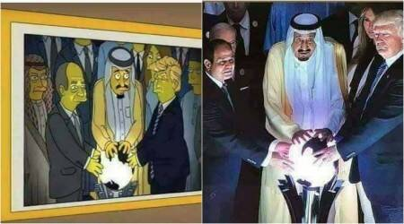 The viral Simpsons' cartoon 'predicting' Donald Trump's 'glowing orb' moment is FAKE