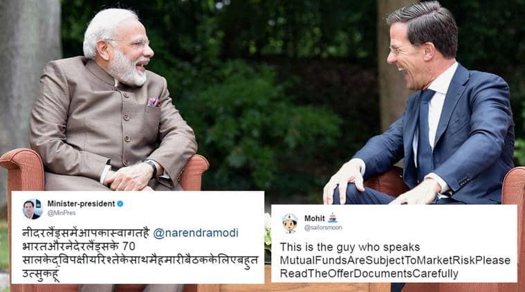 narendra modi, Mark Rutte, modi netherlands, Mark Rutte hindi tweet, dutch pm hindi tweet, netherlands pm hindi tweet mistake, modi netherlands memes, Mark Rutte hindi memes, india news, trending news, viral news, indian express,