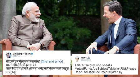 narendra modi, Mark Rutte, modi netherlands, Mark Rutte hindi tweet, dutch pm hindi tweet, netherlands pm hindi tweet mistake, modi netherlands memes, Mark Rutte hindi memes, india news, trending news, viral news, indian express,