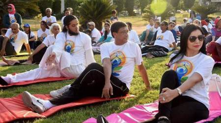 Thousands participate in yoga event in Canada