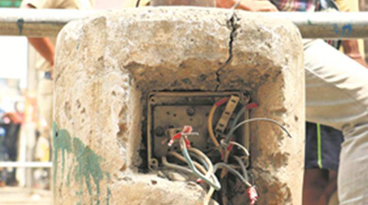 chandigarh news, electric wire boxes news, india news, indian express news