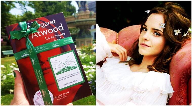 emma watson, the book fairies, margaret atwood, the handmaids tale, emma watson hides 100 books paris, emma watson hides books, indian express, indian express news