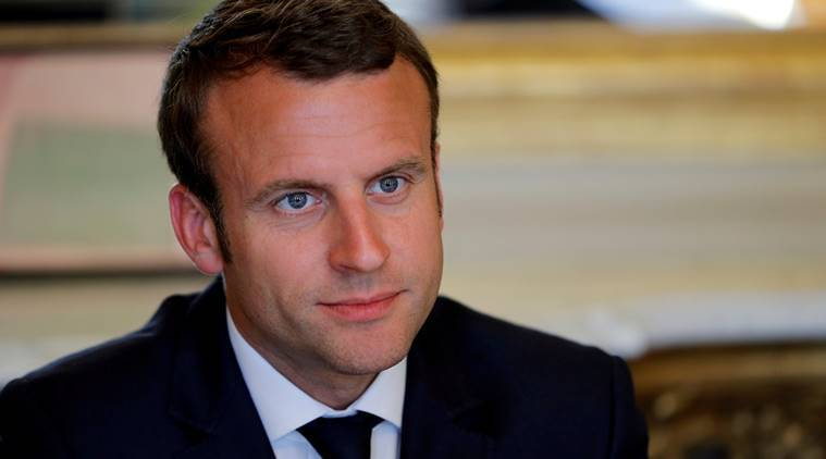 emmanuel macron, two state solution, israel, palestine, french president, middle east conflict, world news, indian express