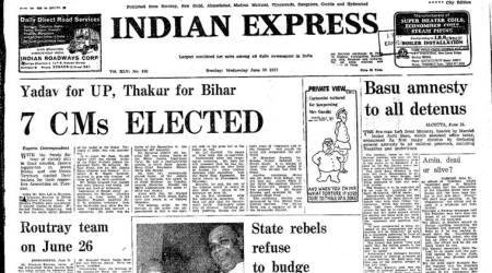 Forty Years Ago, June 22, 1977: Janata CMselected