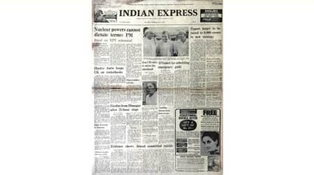 Morarji Desai, TS Anand suicide, Goa statehood, forty years ago, indian express editorial page