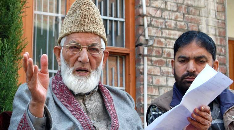 syed ali shah geelani news, india news, indian express news, latest news