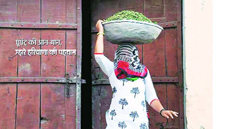 Ghoonghat, Haryana government, Haryana government magazine, haryana woman, manohar Lal Khattar,