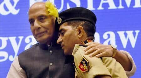 WATCH: Rajnath Singh breaks protocol, hugs brave BSF jawan suffering disability