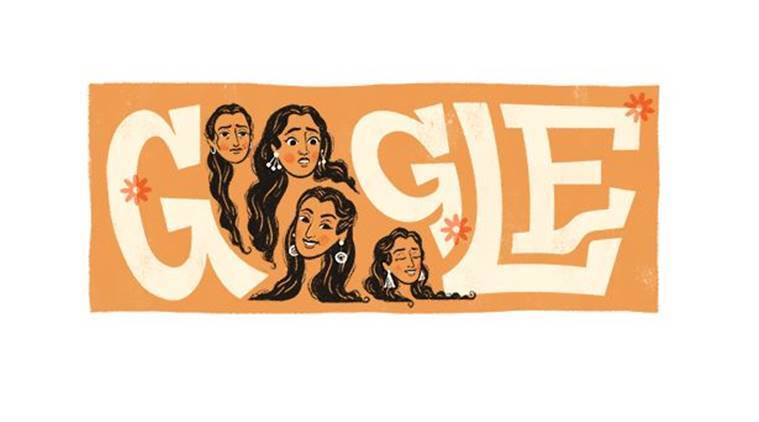 google doodle, google doodle today, google doodle nutan, nutan, actress nutan, bollywood actor nutan, india news