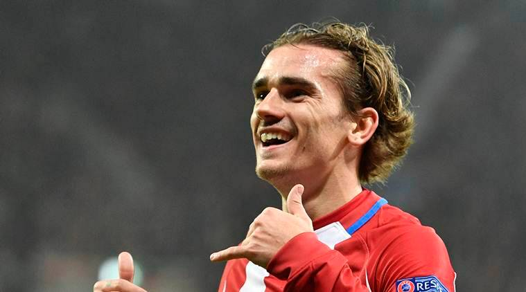 atletico madrid ban, antoine griezmann, Lucas Hernandez, Andre Lacazatte, Kevin Gameiro, football news, indian express
