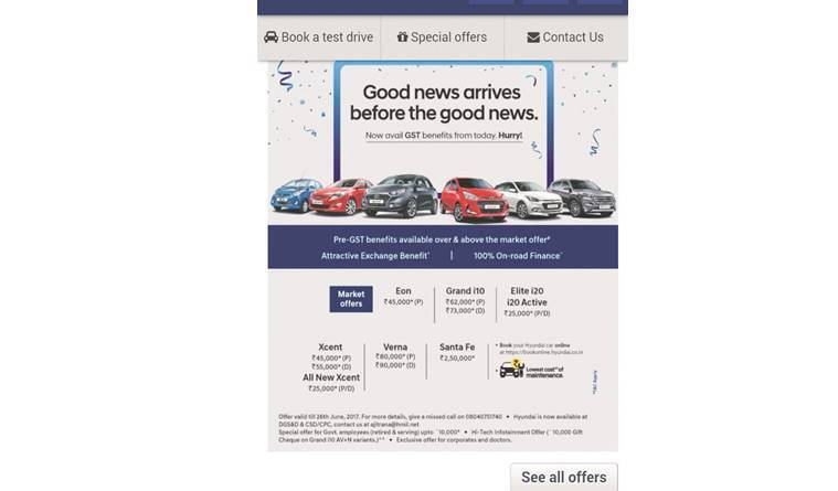 Carmakers woo customers ahead of GST implementation
