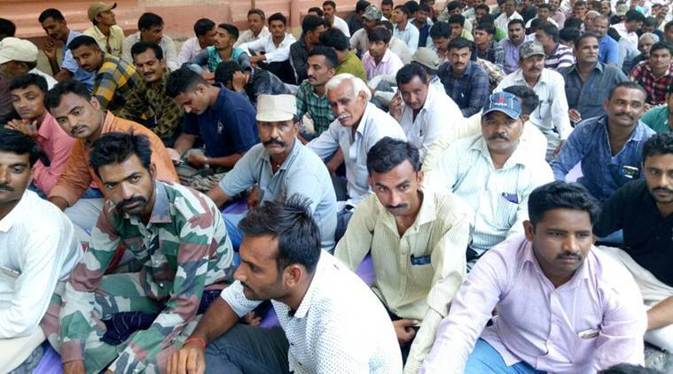 gujarat forest, forest employee strike, gujarat forest employee protest, forest department, employee suspension, indian express news, india news, ahmedabad news