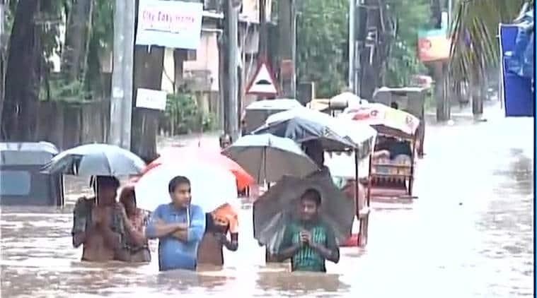 guwahati, guwahati flood, guwahati waterlogging, rain, guwahati rain, guwahati schools closed, indian express news, india news