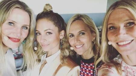 Gwyneth Paltrow forms Dream Girl Band with Cameron Diaz, Nicole Richie and Tory Burch, seephoto