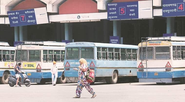 Haryana Roadways, Haryana Roadways strike, Haryana Roadways permit, indian express news, chandigarh news, punjab news
