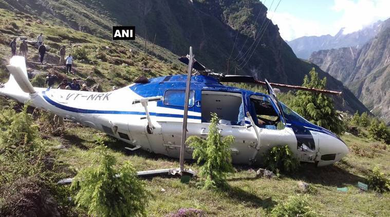 Helicopter crashes in Badrinath; Engineer killed, 2 pilots injured