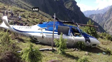 Helicopter accident in Badrinath kills one, pilots suffer injuries