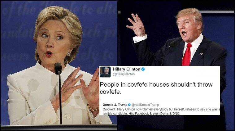 covfefe. covfefe memes, donald trump covfefe, hillary clinton responds to covfefe, crooked hillary covfefe, hillary clinton donald trump, indian express, indian express news