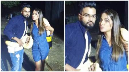 This photo of Hina Khan, boyfriend Rocky Jaiswal and a snake is going viral. Don't miss theirpouts