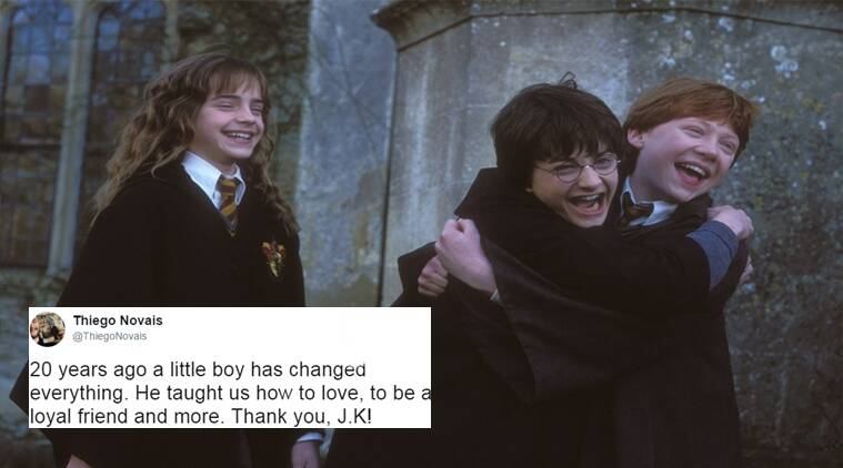harry potter, jk rowling, 20 years of harry potter, twitter reactions, indian express, indian express news