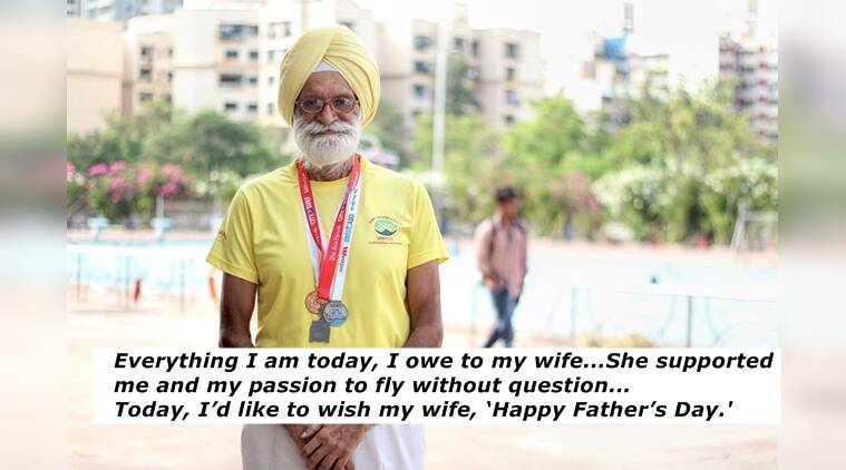 father's day, feel good stories, man wishing wife on fathers day, stories on father day, indian express, indian express news