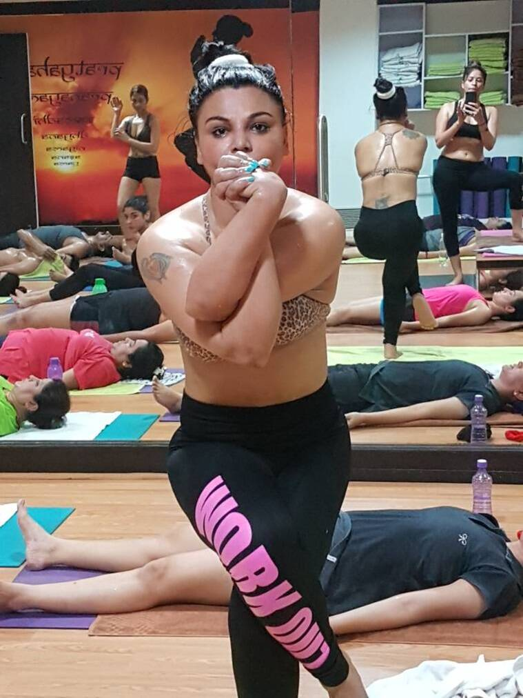 Rakhi Sawant, Rakhi Sawant hot yoga, International Yoga Day, Rakhi Sawant news