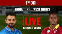 India vs West Indies Live Score 1st ODI: India off to steady start against West Indies